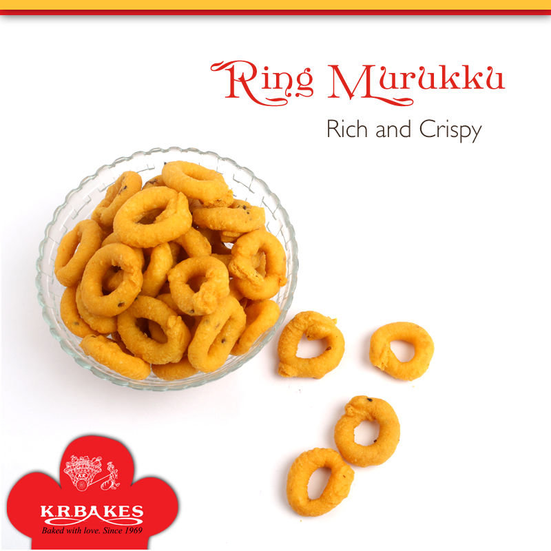 Rich and Crispy Ring Murukku From KR BAKES since 1969  #KRBakes #KRBakesSince1969 #BakedWithLove #Murukku