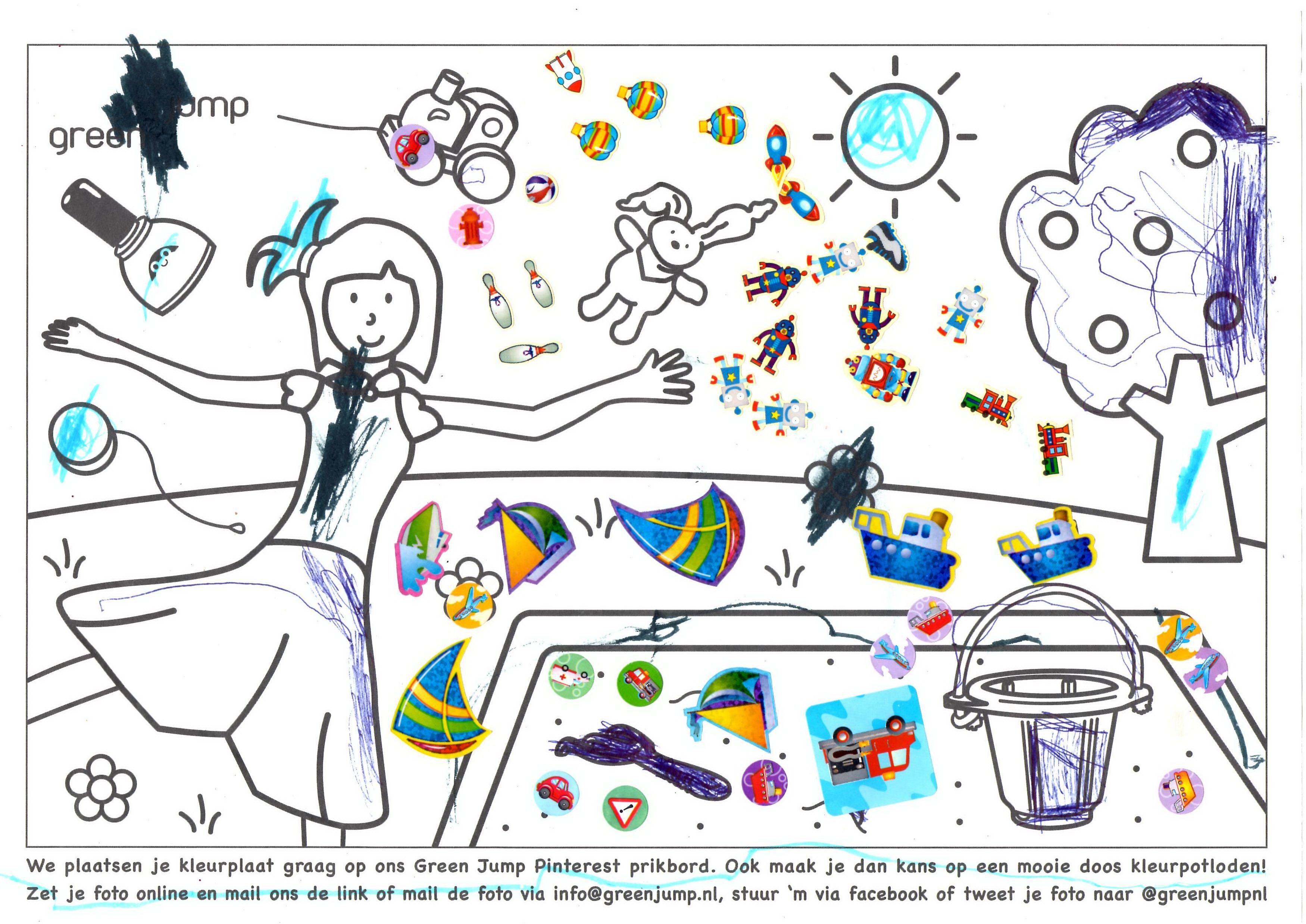 Twan Van 3 Jaar Heeft Zich Ook Uitgeleefd Op Onze Kleurplaat Kleurplaten