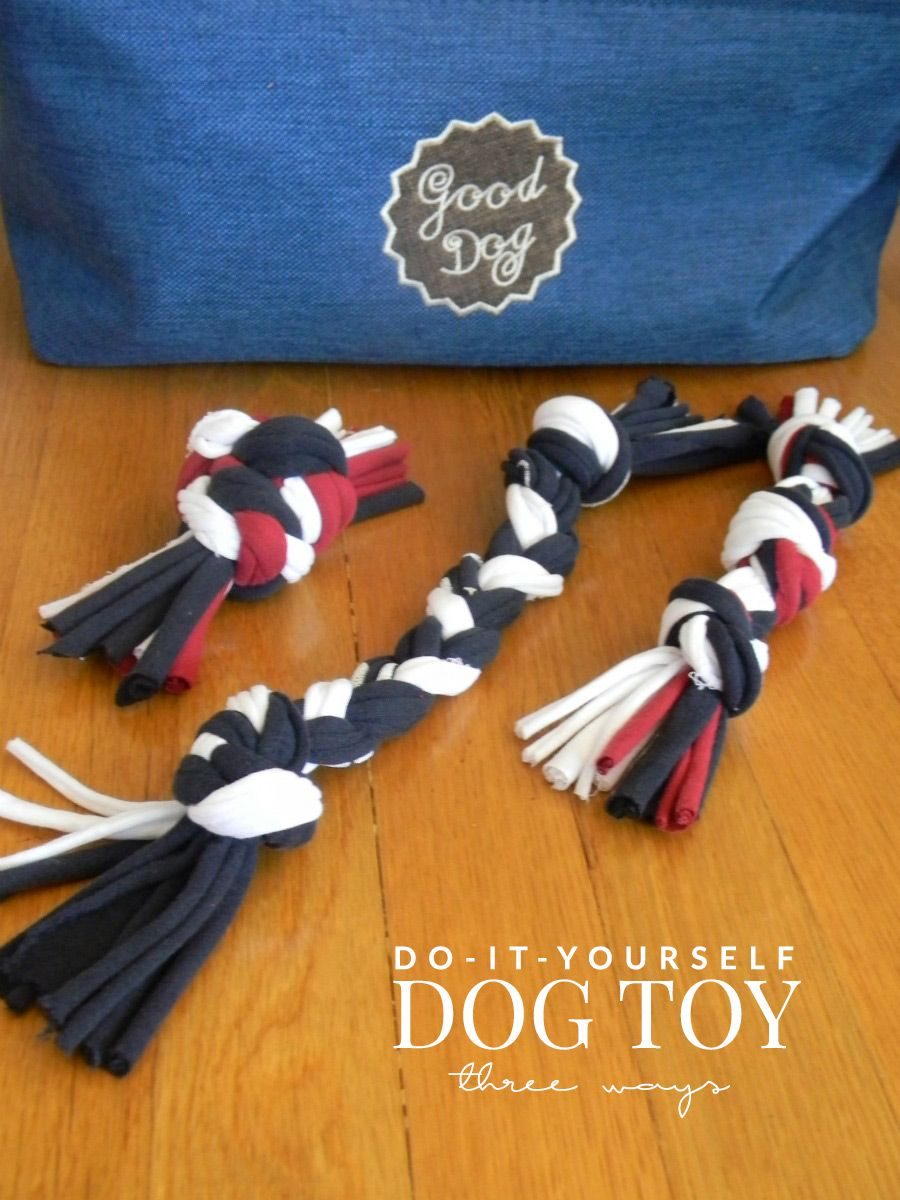 how to make dog chew toys out of shirts