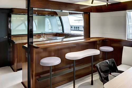 Luxury Sailing Yacht Vertigo Salon Bar Christian Liaigre