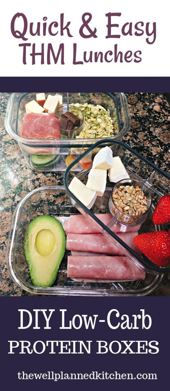 Trim Healthy Mama Lunch idea - DIY Bento Boxes! -