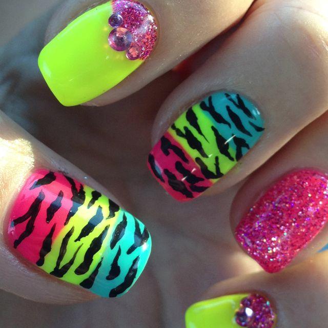 Loving my summer nails for Vegas!!