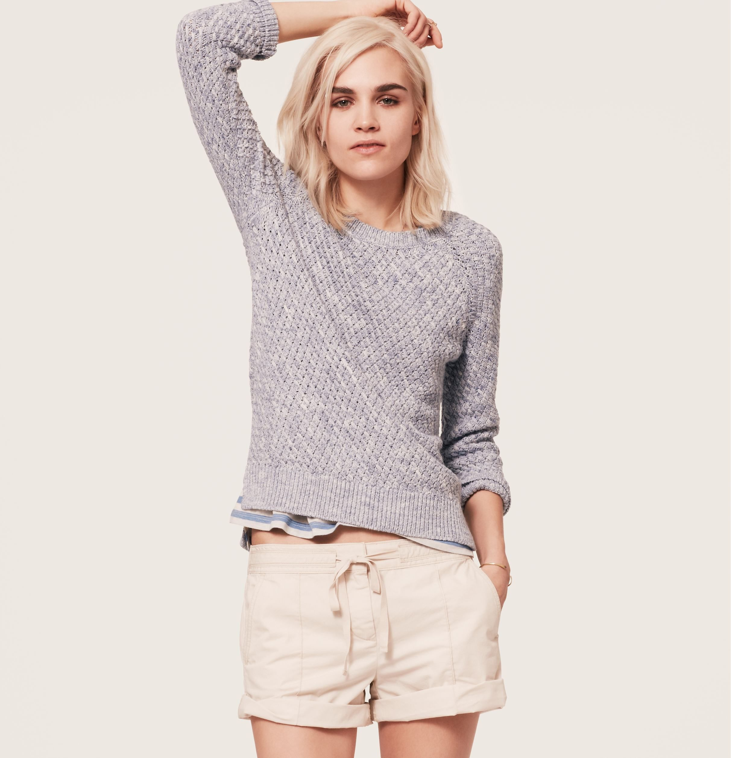 5f8218099cdab Lou & Grey Stitchy Sweater   Loft   Why's she standing like that ...