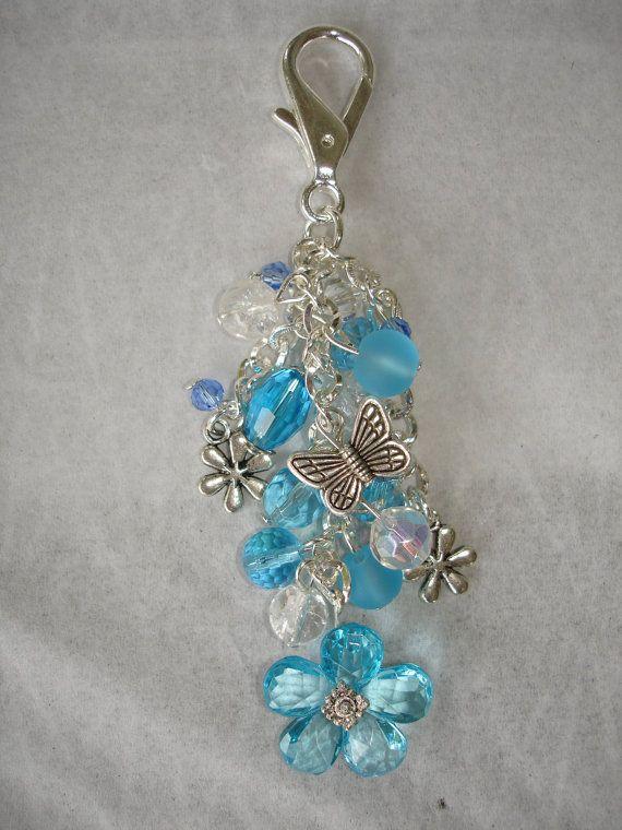 Blue Guardian Angel Purse Charms Dangle