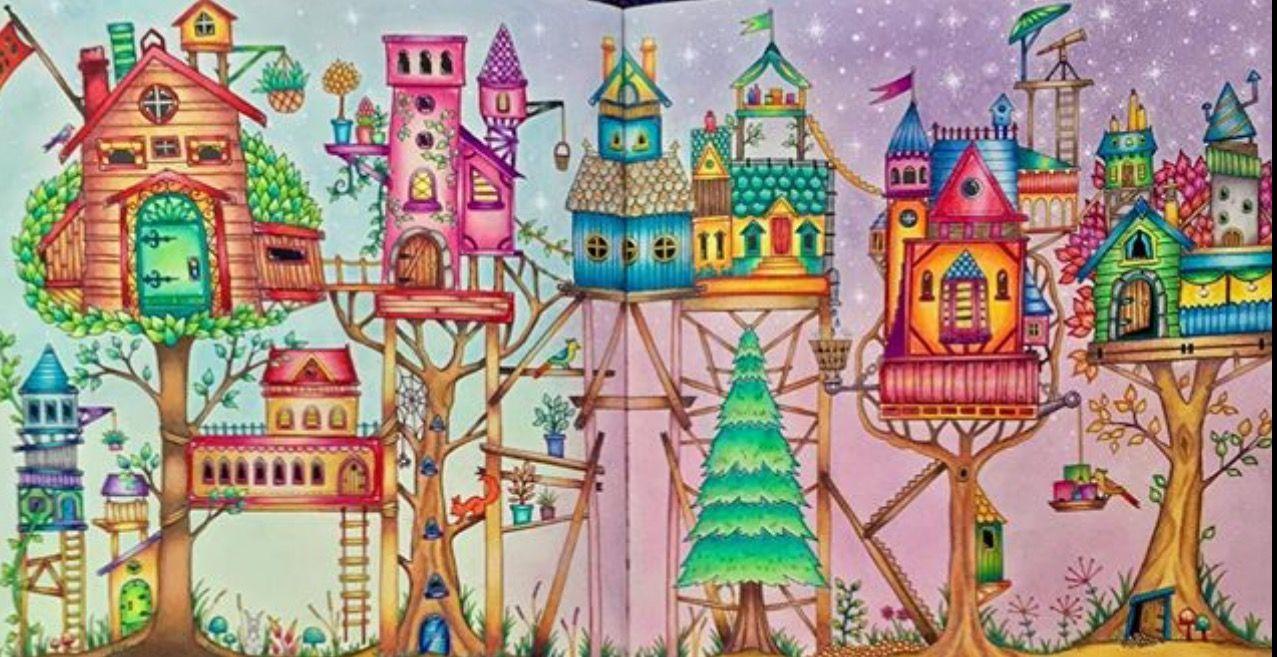Forest Pictures Prismacolor Coloring Books Forests Enchanted Folk Vintage Popular Woodland