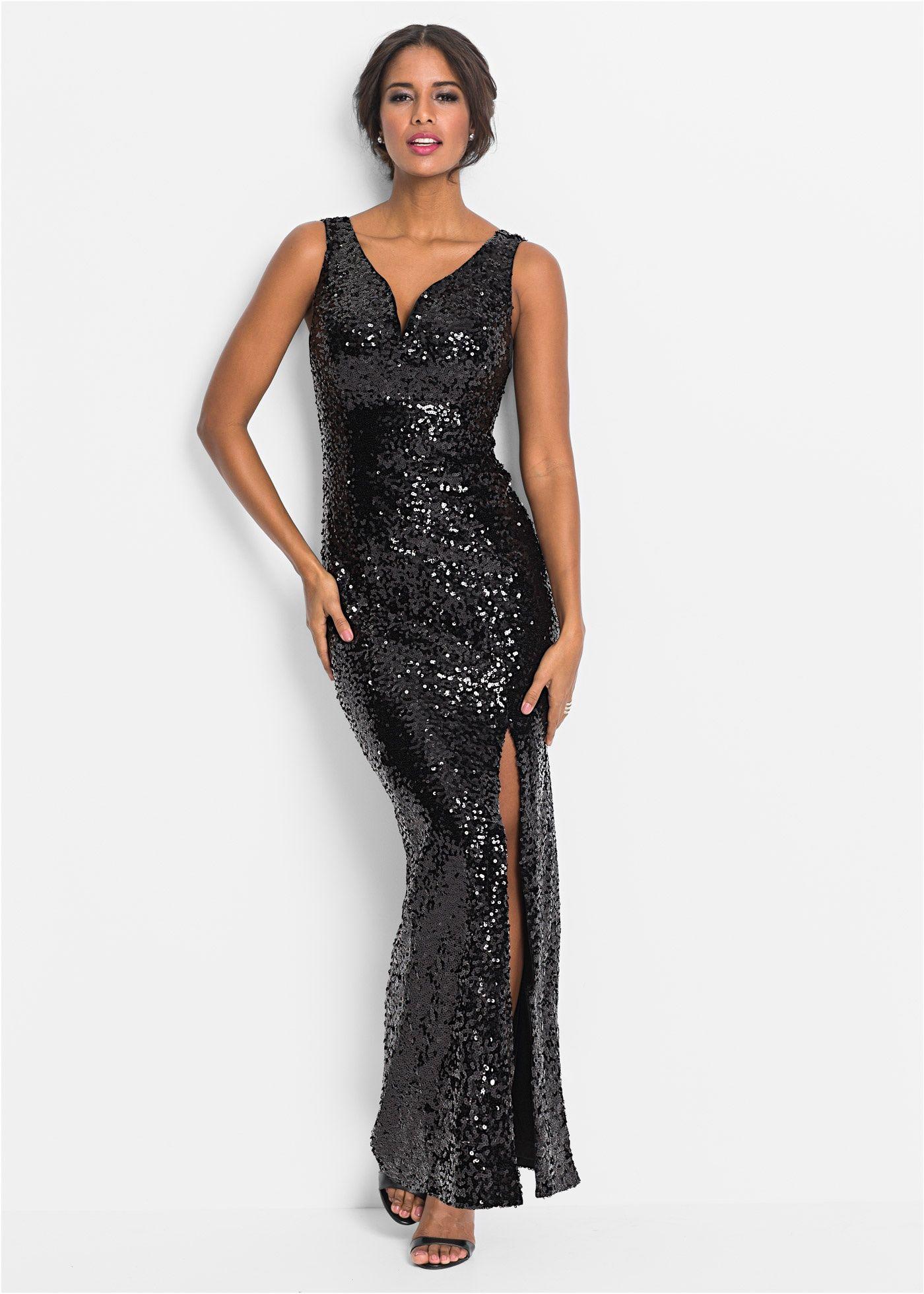 5287dfd931a1dd Paillettenkleid schwarz - BODYFLIRT boutique jetzt im Online Shop von  bonprix.de ab ? 69