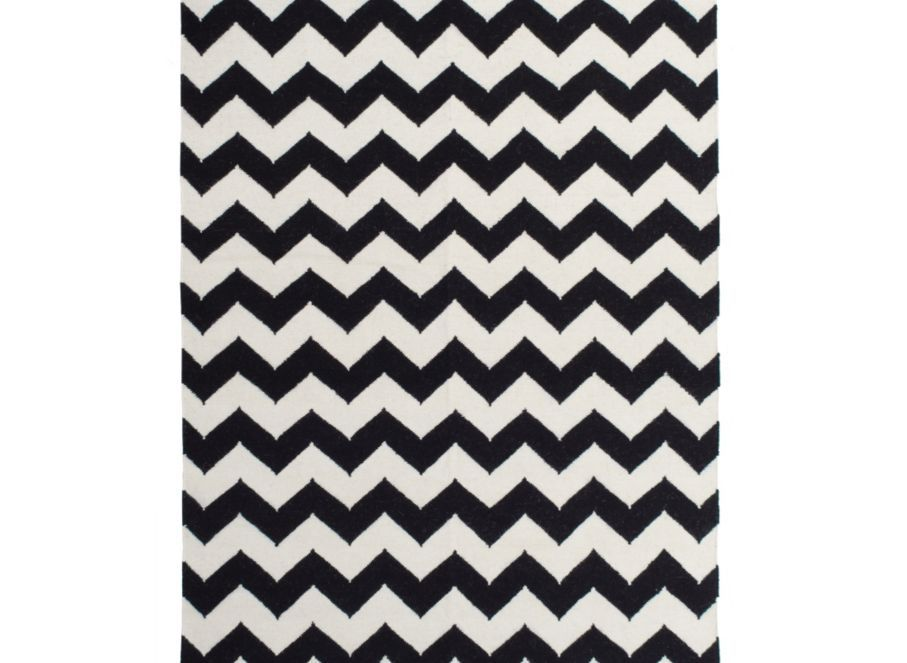 Zig Zag Rug Black White Area Rugs Panels And