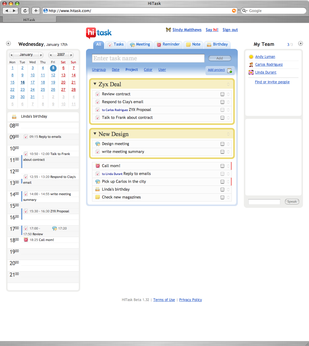 HiTask allows you to handle your own to-do list, manage team task ...