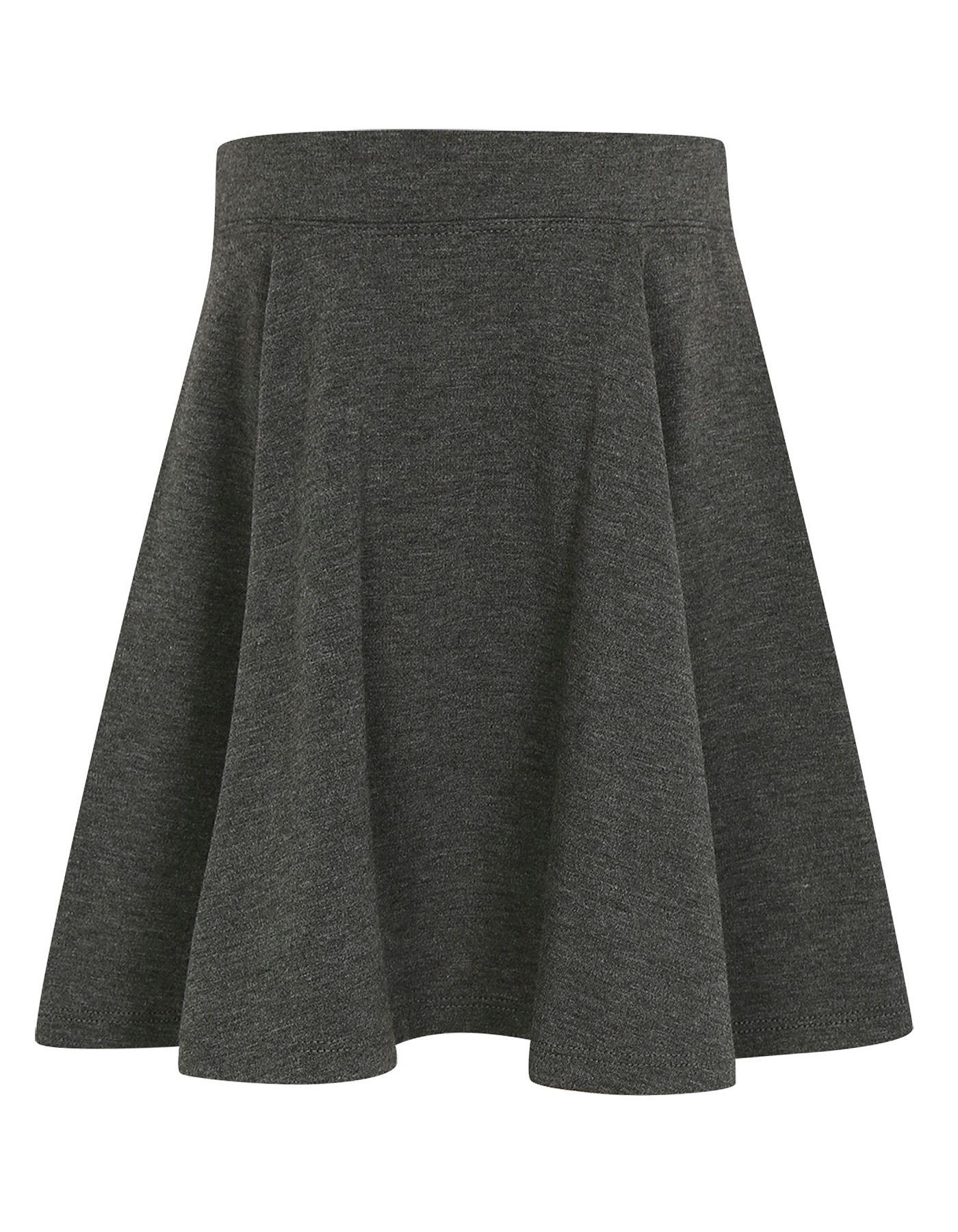 04c9ba46d6d3 Girls School Jersey Skater Skirt – Grey