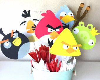 Angry Birds Centerpiece Angry Birds Birthday Party Angry Birds