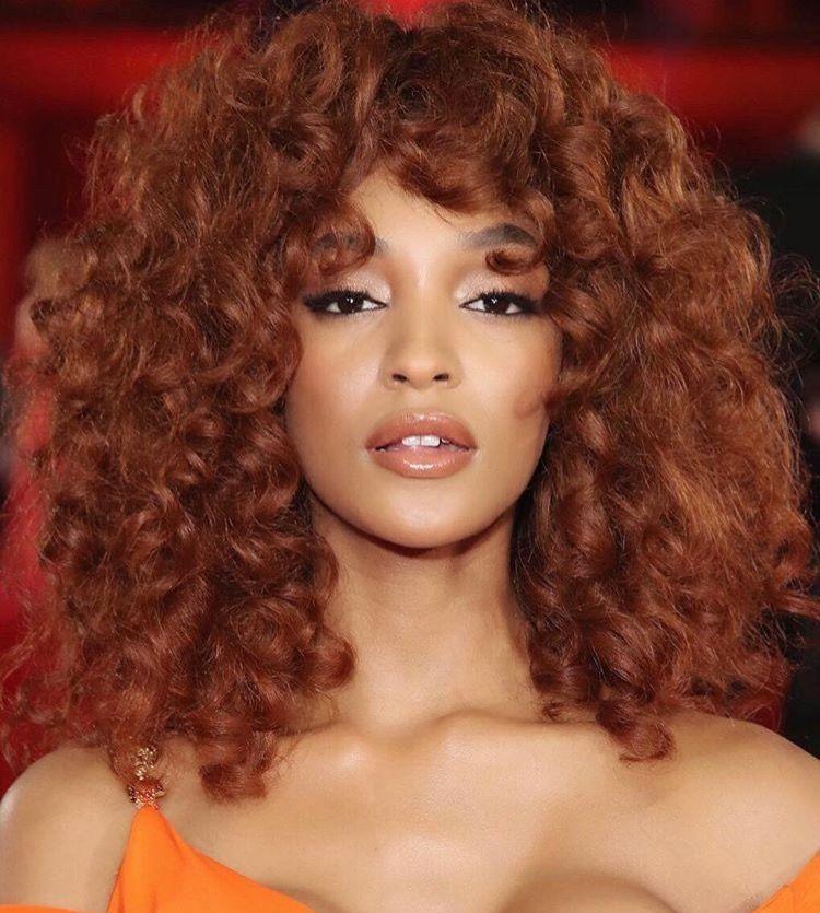 Hair Of The Week Top Model Jourdan Dunn S Copper Tone Hair Color