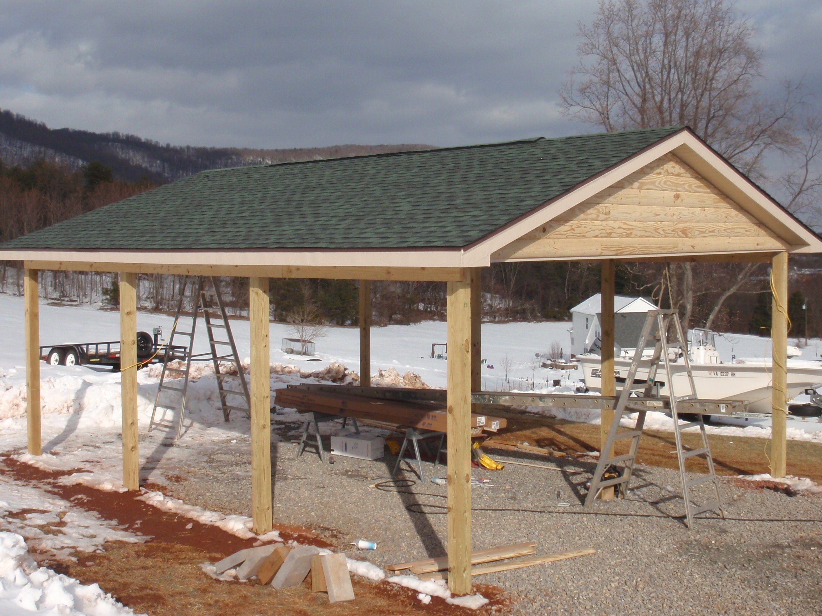 Log Siding For Houses Double D Contracting Log Siding Carport