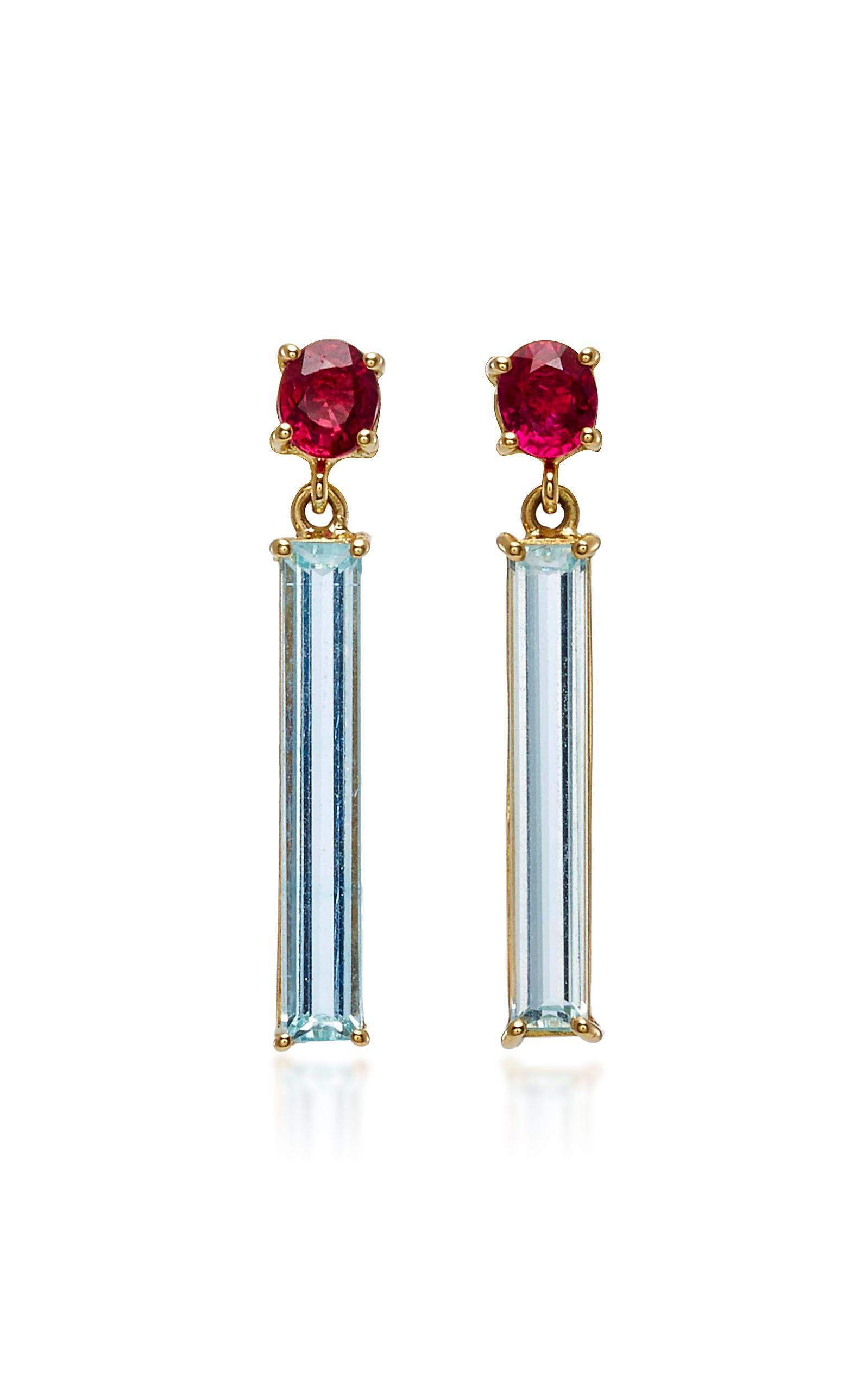 18k Rubis Or Et Boucles D'oreilles Diamant Collection Yi 4pM2QppP