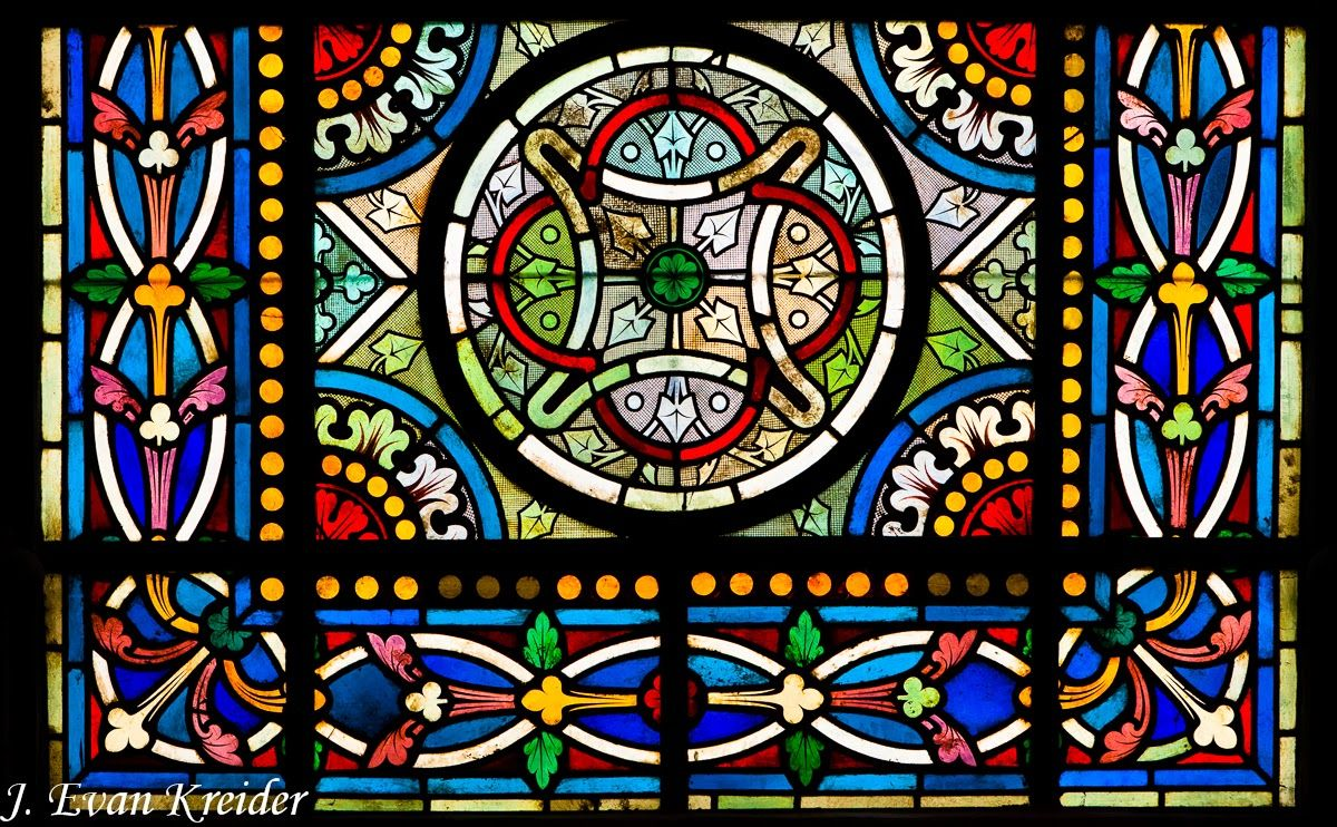 Some Stained Glass Windows At The Basilica Of St Denis Medieval