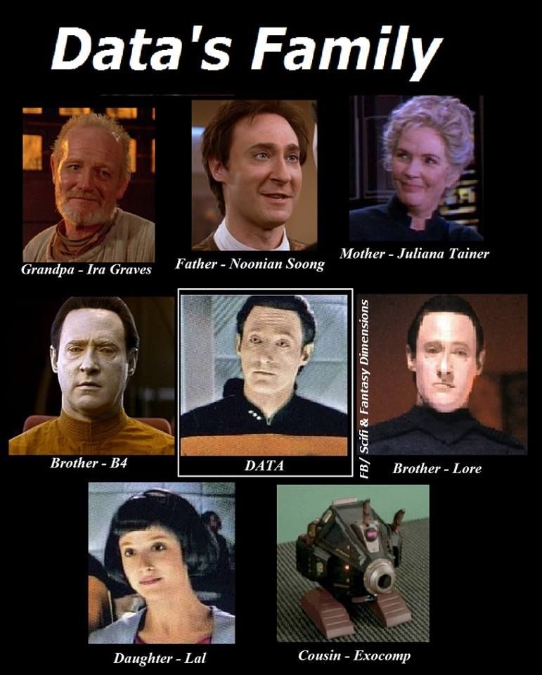 Datas Family Star Trek Pinterest Star Trek Trek And Star