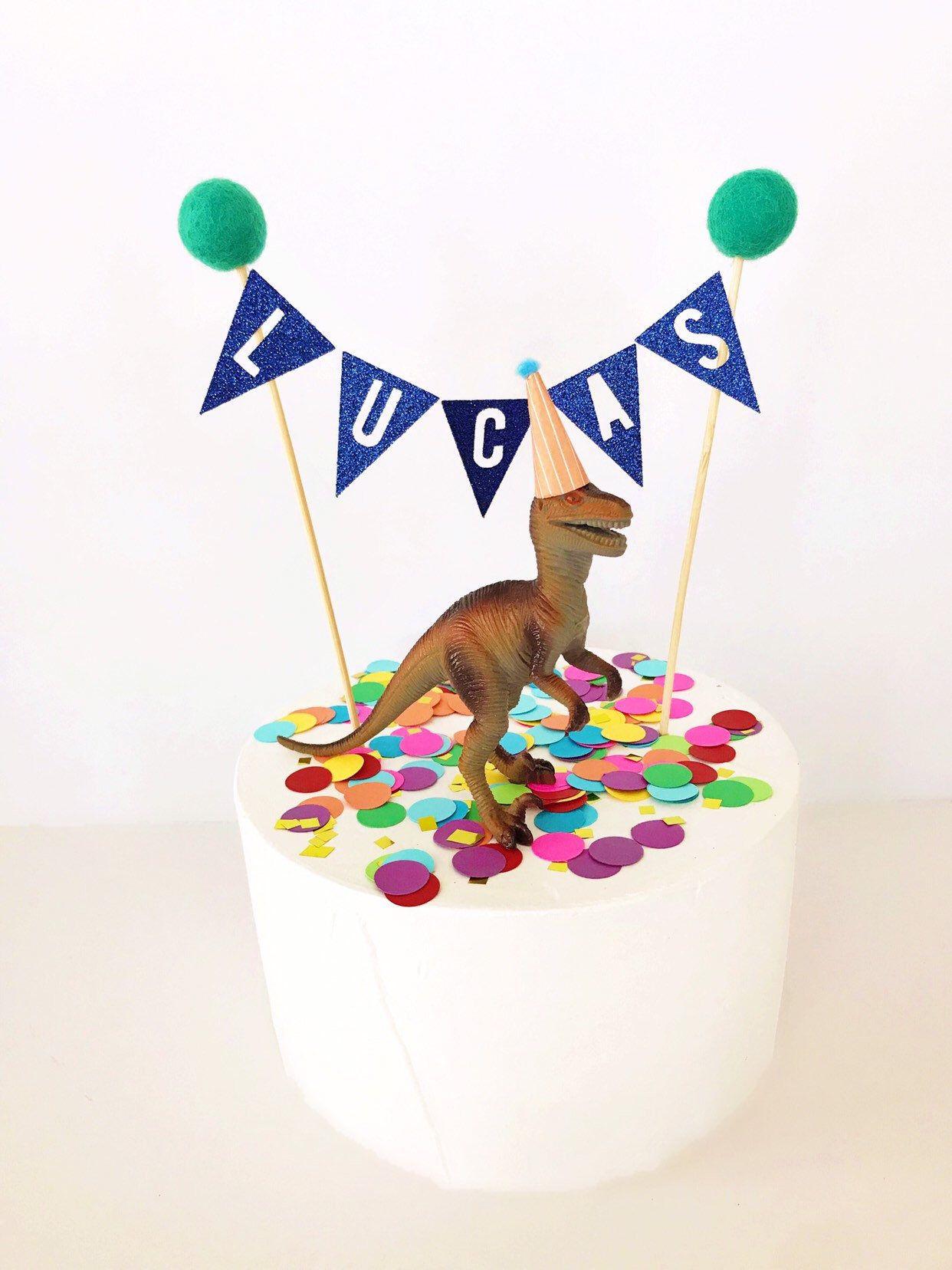 Custom name cake topper banner personalized cake topper
