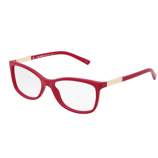 10547b28b4 Women s matte red plastic eyeglasses with squared frame by Dolce  ... ❤  liked on Polyvore featuring accessories