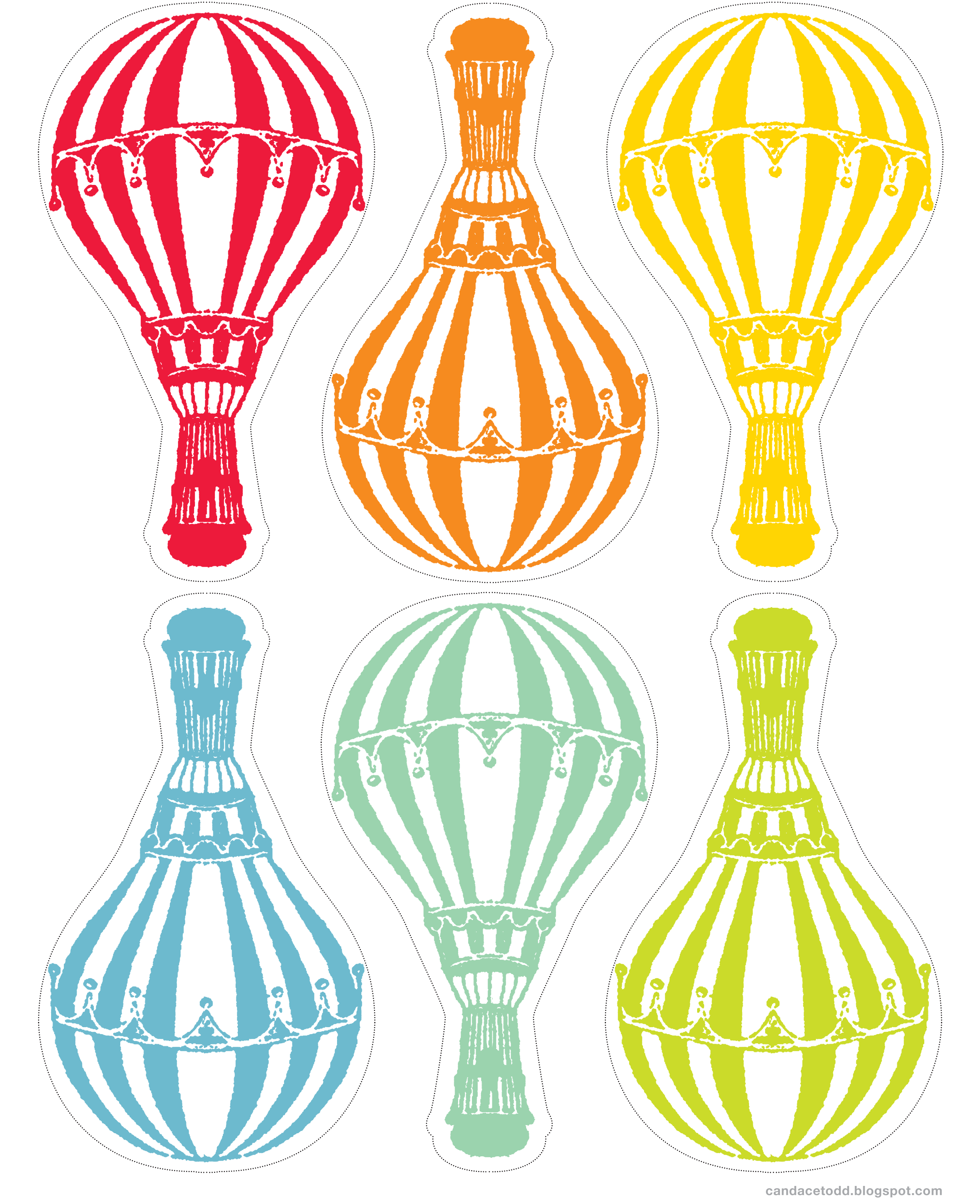 Free Hot Air Balloon Printable