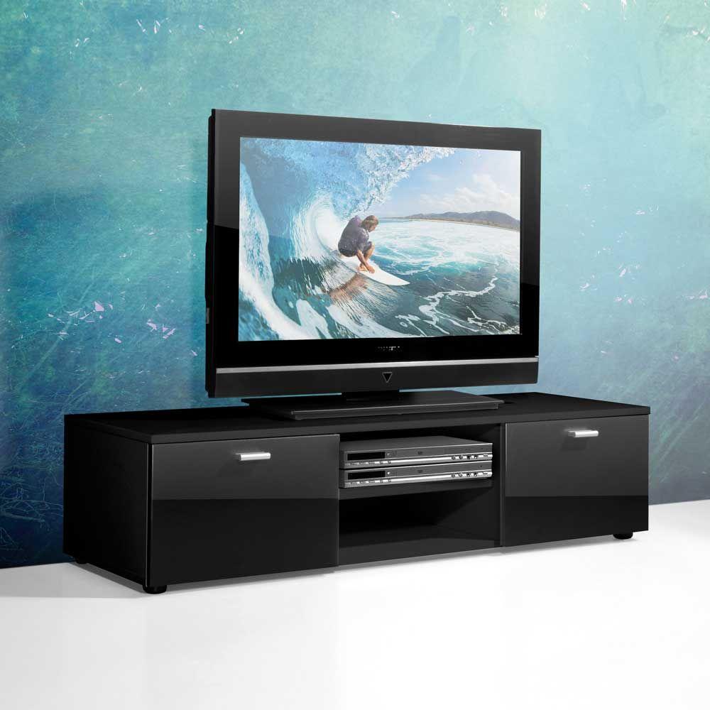 TV Unterschrank In Schwarz Hochglanz 120 Cm Jetzt Bestellen Unter Moebel