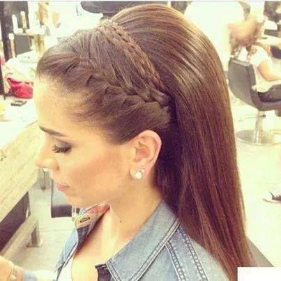 Peinado Con Trenza Peinados Pinterest Cabello Trenzas Y - Peinados-cabello-suelto