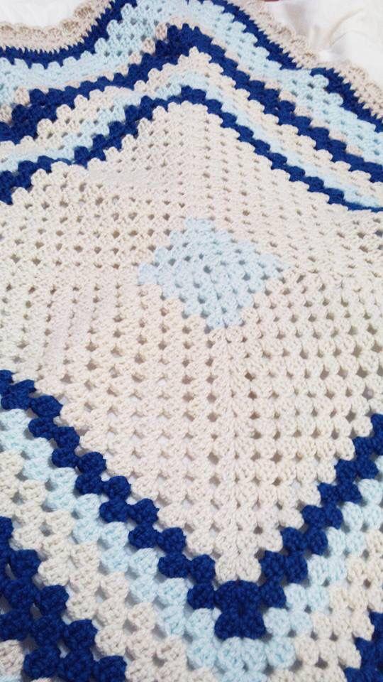 Manta crochet, baby blanket | Crochet 3 | Pinterest