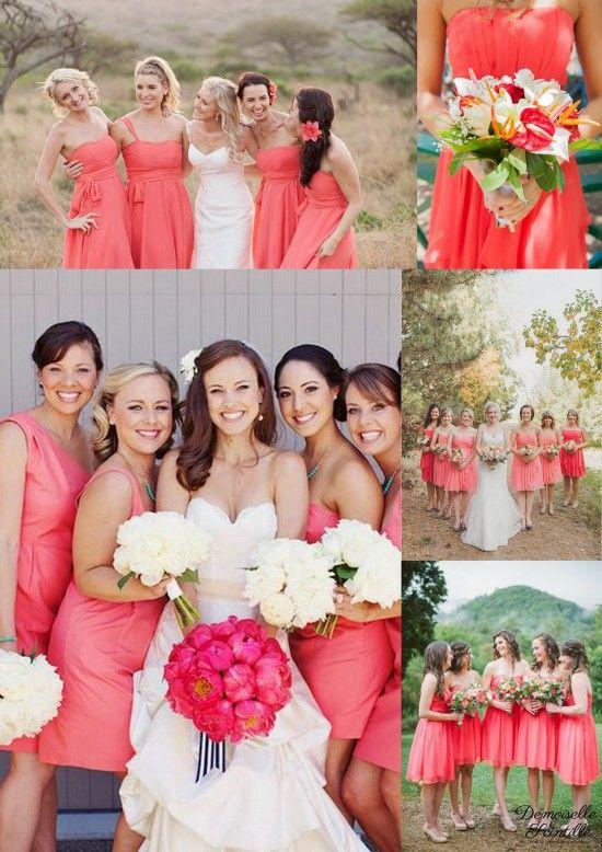 Bridesmaid dresses robe de demoiselle d 39 honneur corail for Robes de demoiselle d honneur mariage marine