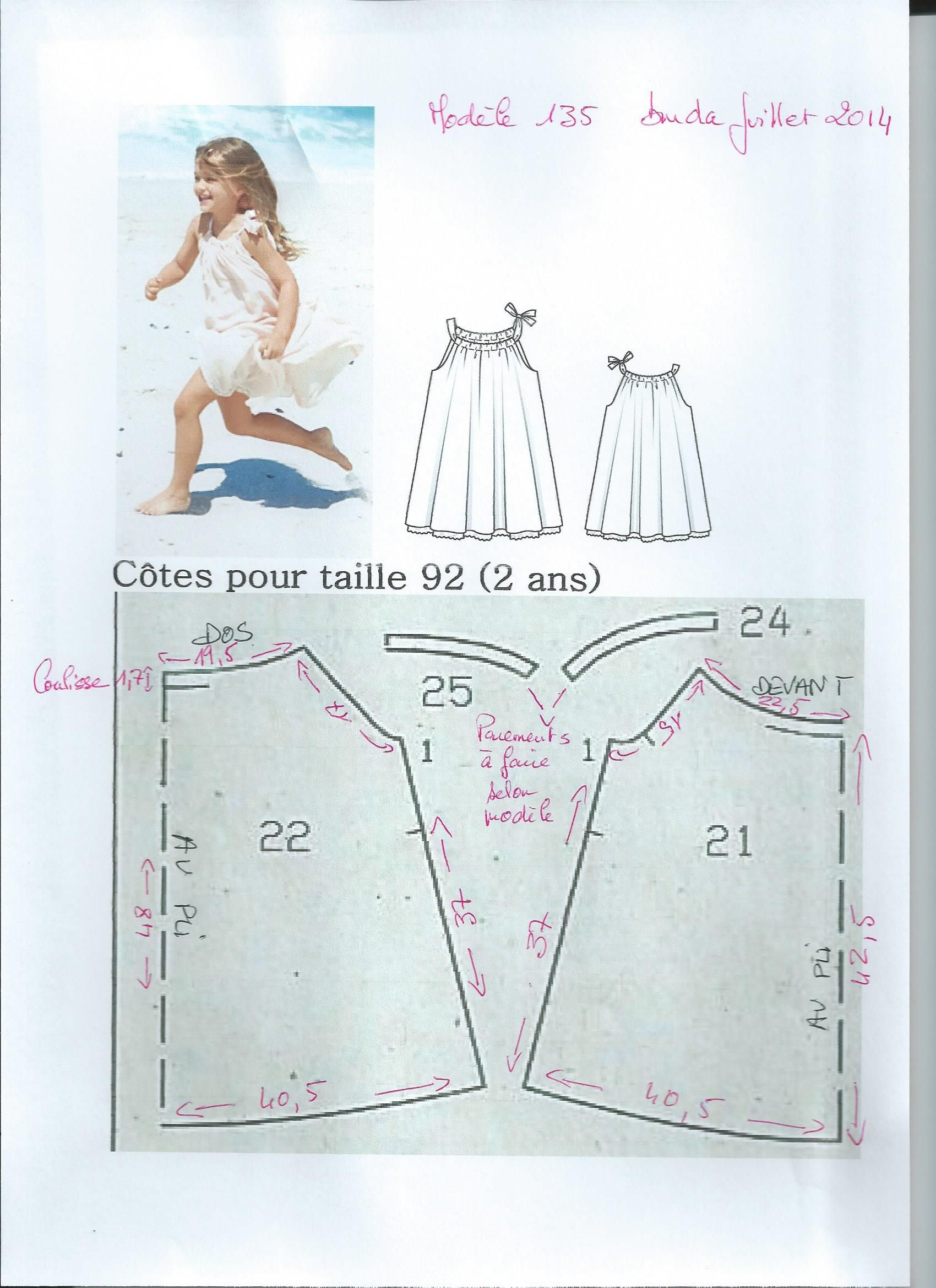 patron robe chantal grangenois | COUTURE Sewing little girl ...