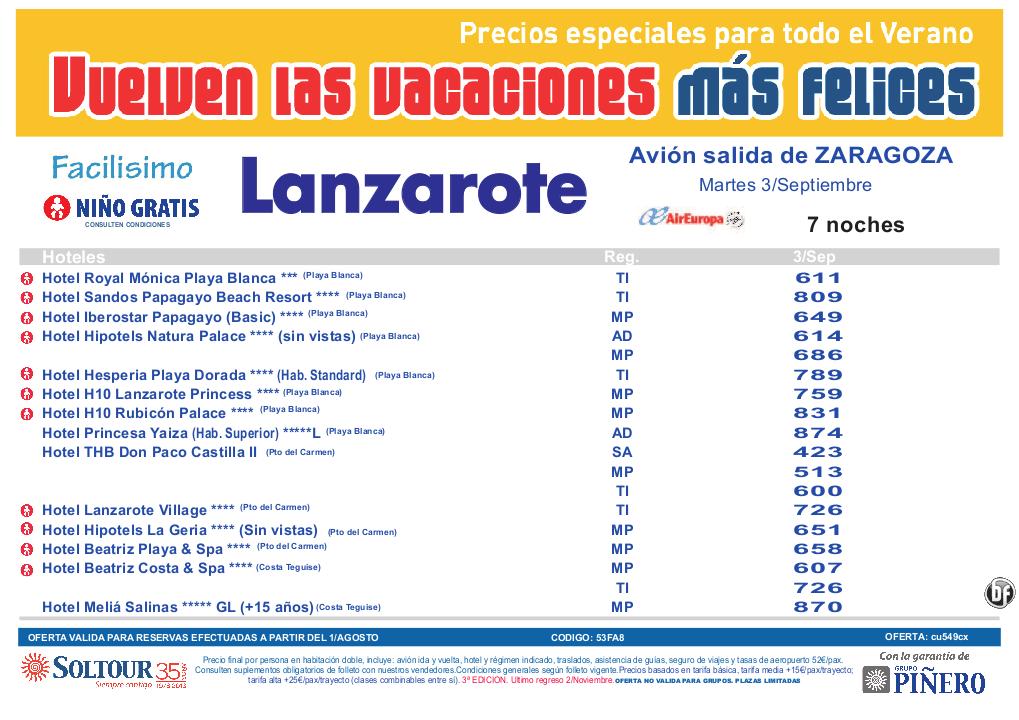 3ªEdición Las vacaciones mas felices. Hoteles en Lanzarote salidas desde Zaragoza - http://zocotours.com/3aedicion-las-vacaciones-mas-felices-hoteles-en-lanzarote-salidas-desde-zaragoza/