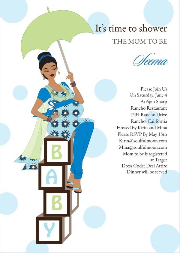 chic mommy  indian baby shower invitations by soulfulmoon, Baby shower