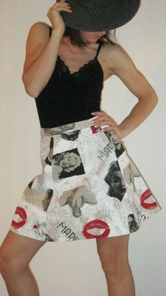 Gonna a Teli  Marilyn kiss di Victoria Avenue su DaWanda.com