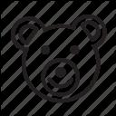 Bear Christmas Character Christmas Icon Icon Icon Line Icon Icon Bear Logo Design Christmas Icons Christmas Characters