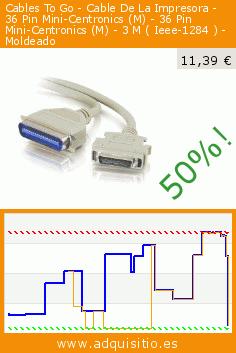 Cables To Go - Cable De La Impresora - 36 Pin Mini-Centronics (M) - 36 Pin Mini-Centronics (M) - 3 M ( Ieee-1284 ) - Moldeado (Electrónica). Baja 50%! Precio actual 11,39 €, el precio anterior fue de 22,91 €. http://www.adquisitio.es/fabricado-marca/cables-to-go-cable-4