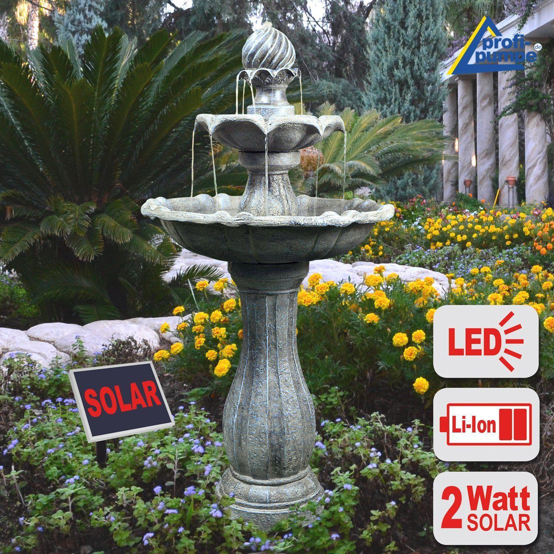 Gartenbrunnen Brunnen Solar Brunnen Zierbrunnen Vogelbad Wasserfall Gartenleuchte Teichpumpe Springbrunnen Wasserspiel Fu Gartenbrunnen Springbrunnen Brunnen
