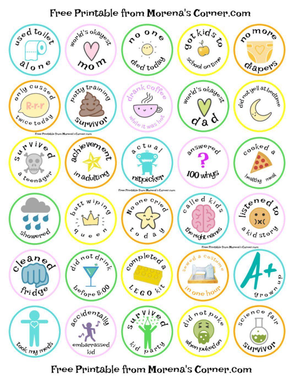 Merit Badges For Parents Free Printable