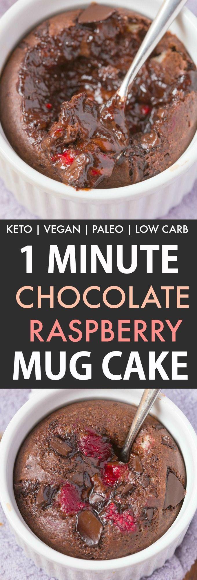 Healthy Keto Chocolate Raspberry Mug Cake - The Big Man's ...