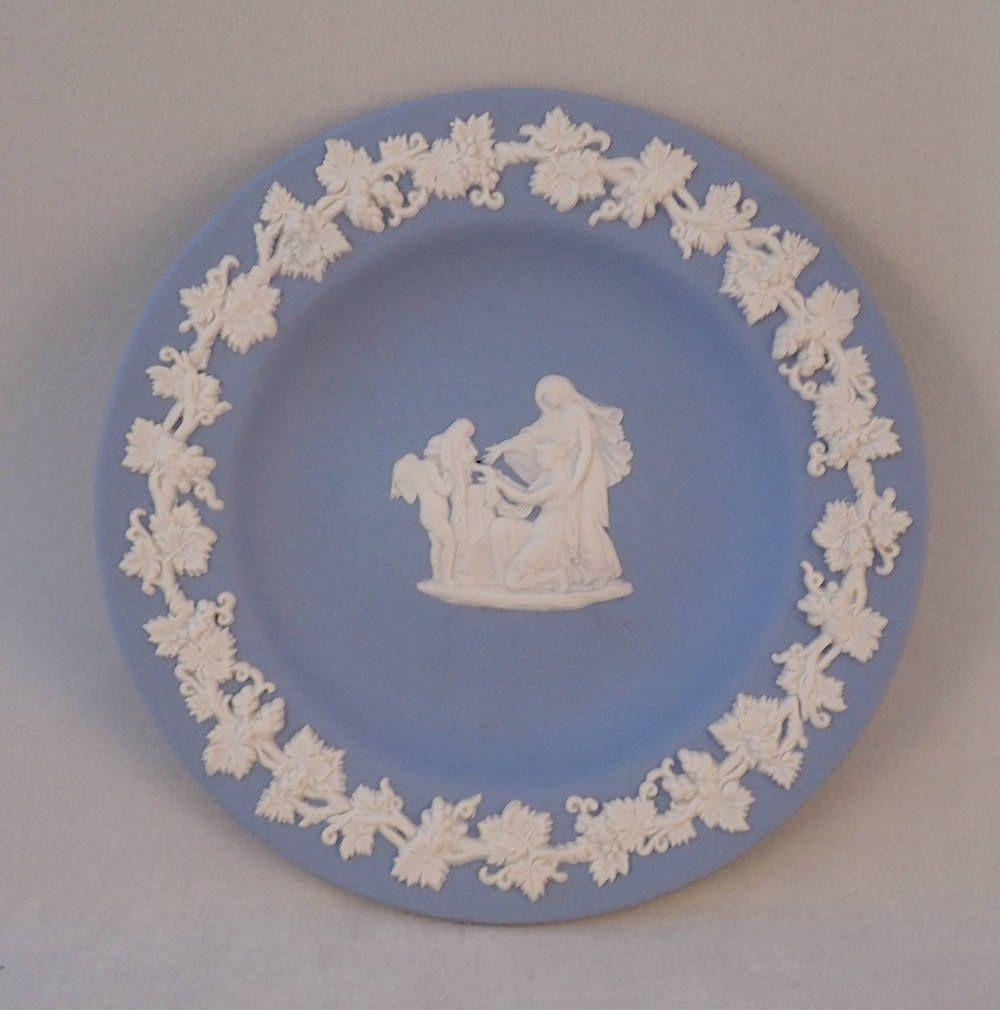 Wedgwood Blue Jasperware Pin Dish