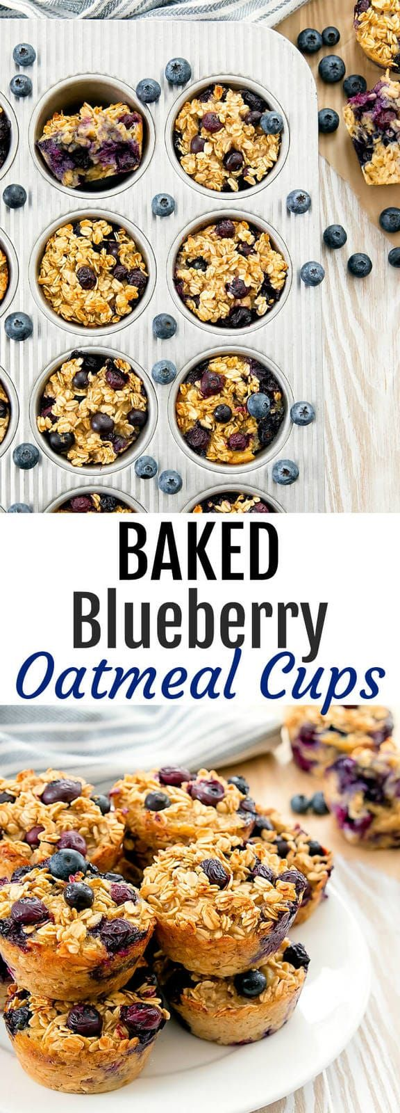 Baked Blueberry Oatmeal Cups images