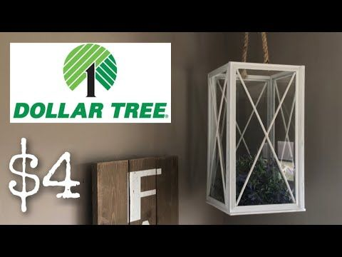 DOLLAR TREE DIY FARMHOUSE DECOR || LARGE HANGING LANTERN