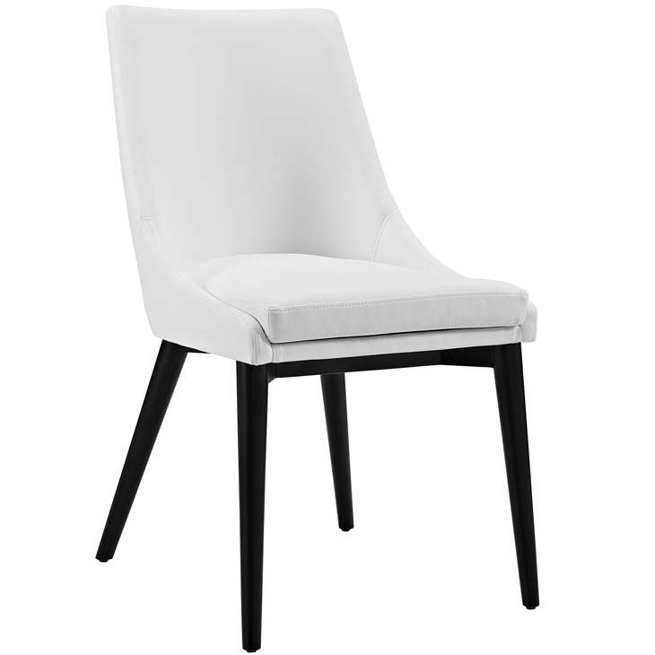 Viscount Vinyl Dining Chair Viscount Vinyl Dining Chair In White