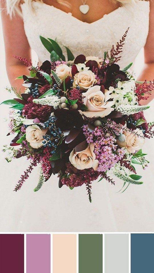 ✔ 26 elegant burgundy and blush wedding bouquet ideas 00010