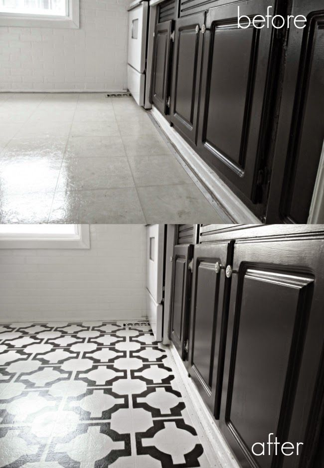 Diy Painted Vinyl Floors Before And After Step By Step And Product List Painted Vinyl Floors Vinyl Flooring Diy Flooring