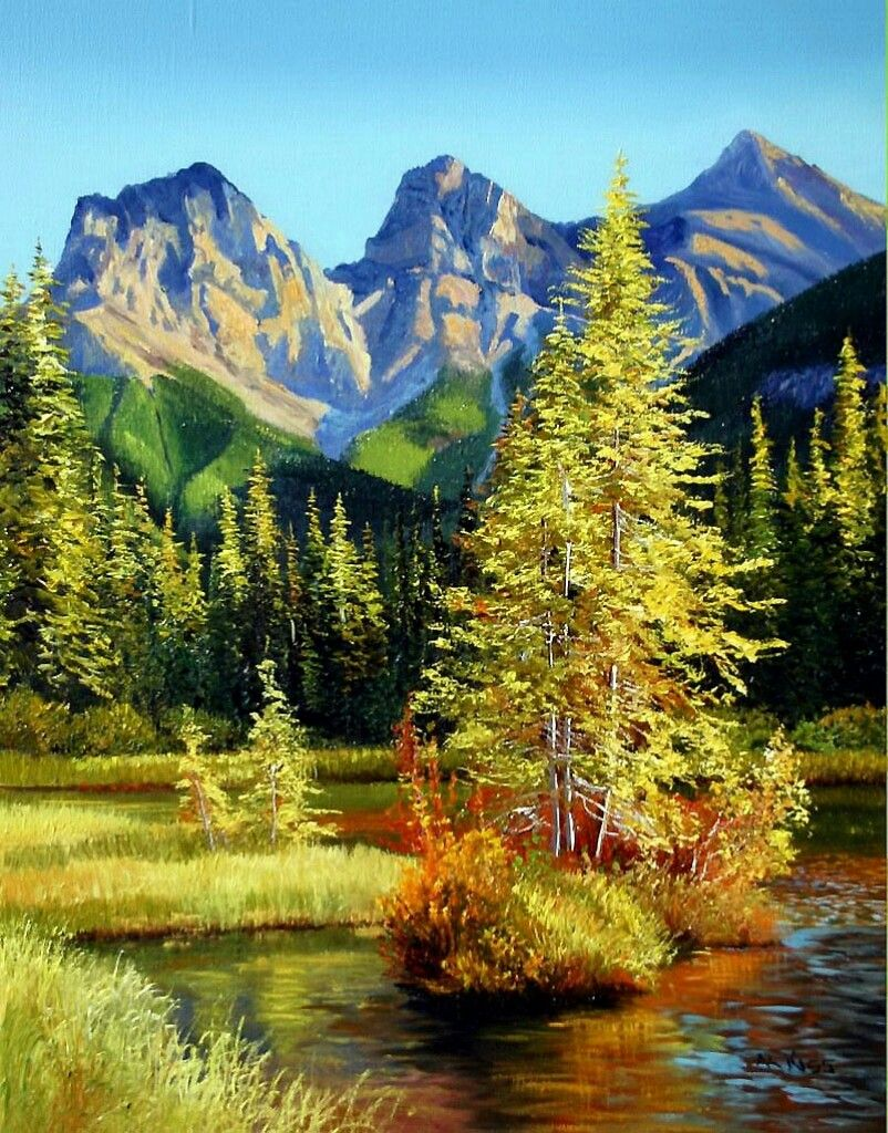 Andrew kiss landscape paintings mountain paintings
