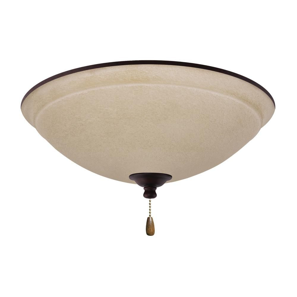 Emerson Ashton Wet Amber Mist 3 Light Venetian Bronze Ceiling Fan Kit
