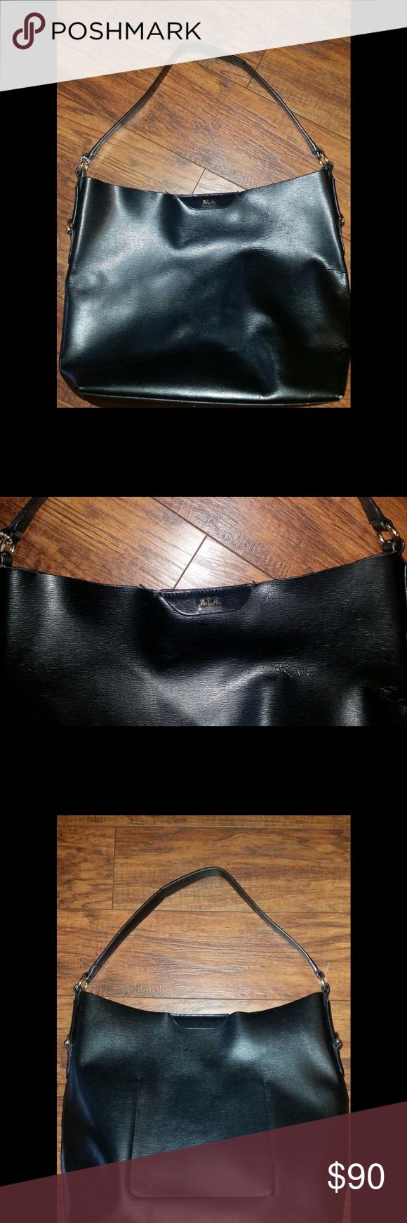 a6619c4e325 Ralph Lauren R.L.L. Leather Hobo Bag   My Posh Closet   Pinterest   Ralph  lauren bags, Hobo bags and Closure