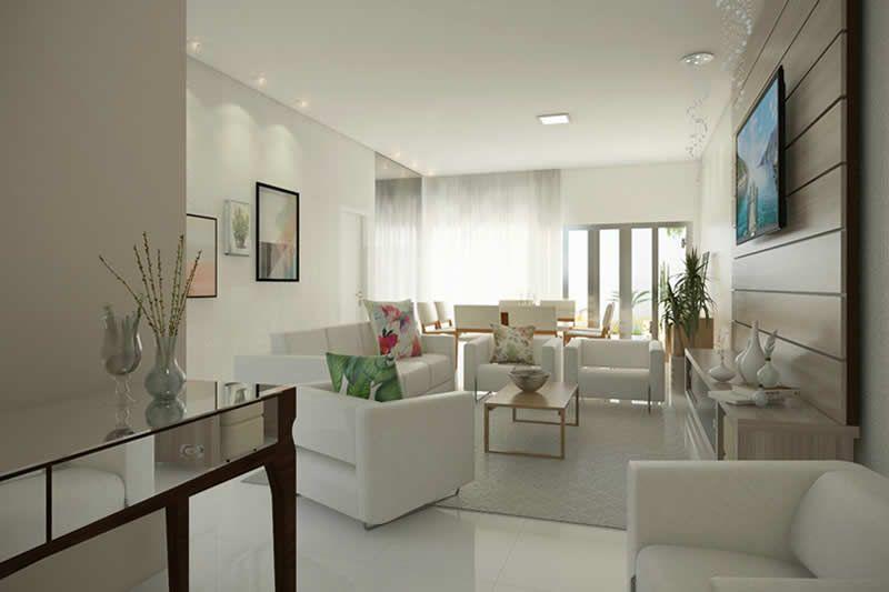 Planta de casa moderna con 3 dormitorios sitting room in for Casa de una planta 3 dormitorios