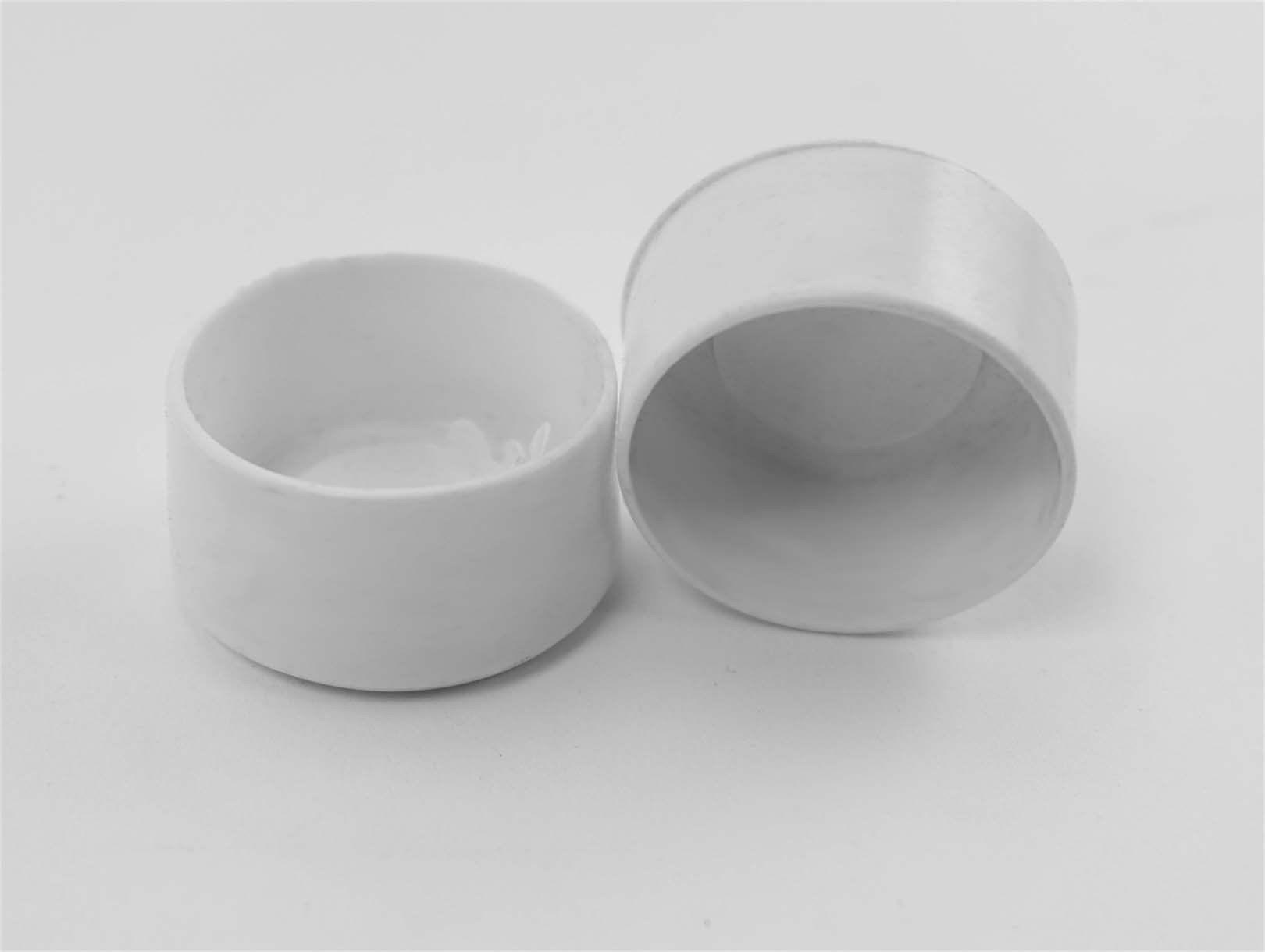 114 round chair leg protector white item 30615