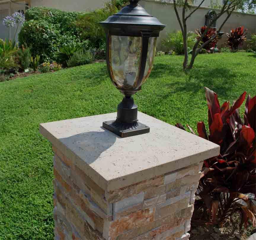 Porch Light Llc: Column Cap With Light Fixture