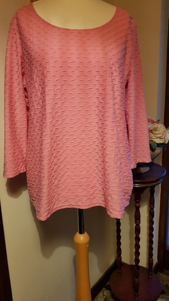 148a659bf19a4c SIZE 20. Lovely Pink 3/4 Length Sleeve Top/Shirt #fashion #clothing #shoes # accessories #womensclothing #tops (ebay link)