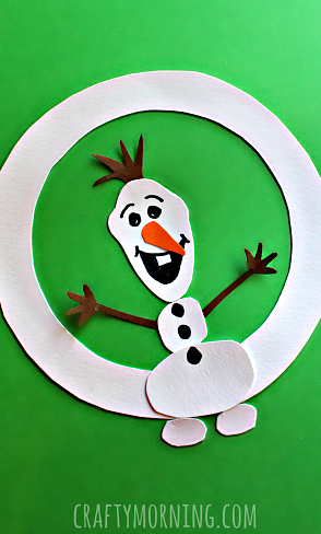 O Is For Olaf Winter Alphabet Craft For Kids Crafty