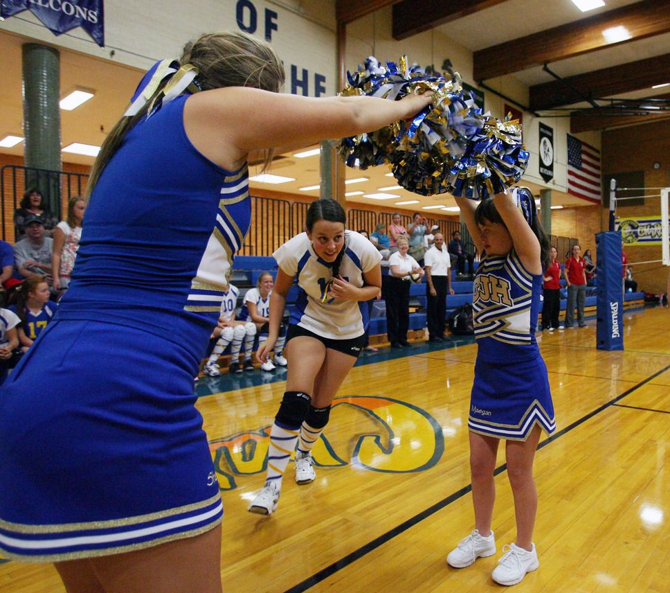 Pin By Riley Schmid On Little Things That I Love Cheerleading Volleyball Team Tribune